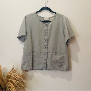 Erika Boxy Linen Button Up